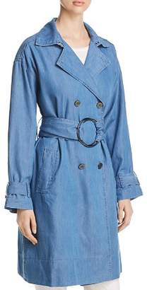 Kenneth Cole Chambray Trench Coat