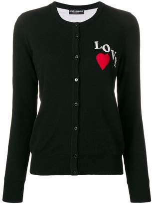 Dolce & Gabbana Love emboridered cardigan
