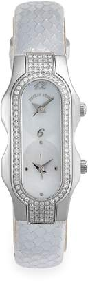 Philip Stein Teslar Women's Diamond & Mother-Of-Pearl Stainless Steel Watch