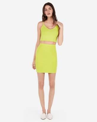 Express High Waisted Straight Mid-Thigh Skirt