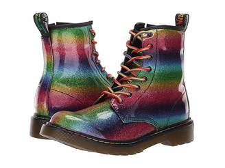 Dr. Martens Kid's Collection 1460 Patent Glitter Delaney Boot (Big Kid)