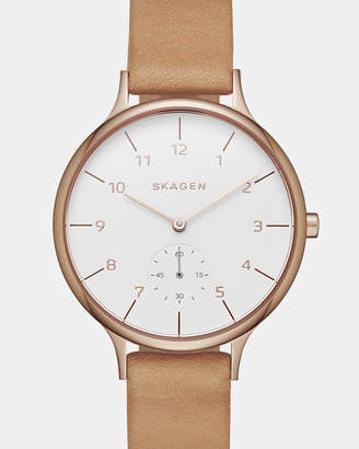 Skagen Anita Brown Analogue Watch