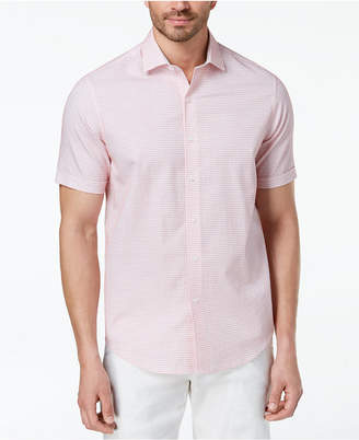 Tasso Elba Men's Short-Sleeve Dobby Shirt, Created for Macy's