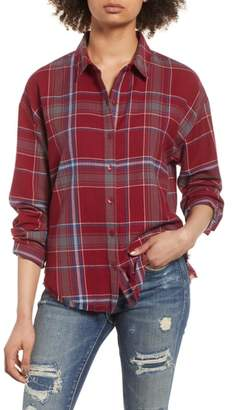 BP Frayed Edge Plaid Shirt