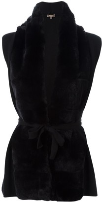 N.Peal cashmere belted cardigan