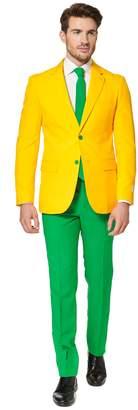 DAY Birger et Mikkelsen Opposuits Men's OppoSuits Slim-Fit Green & Gold Novelty Suit & Tie Set