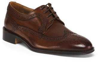 Men's Made In Italy Wing Tip Leather Shoes