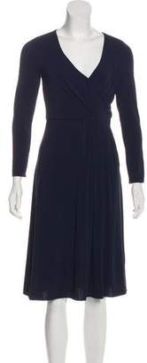 Armani Collezioni Long Sleeve Knee-Length Dress