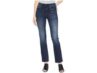 Mavi Jeans Kendra Straight Leg Denim in Deep Ink/Gold Women's Jeans