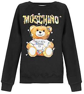 Moschino Women's Christmas Teddy Crewneck Sweater