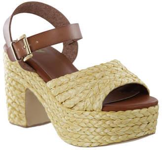 Mia Whitney Raffia Platform Women Shoes