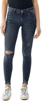 DL1961 Emma Ripped & Distressed Skinny Jeans in Kent