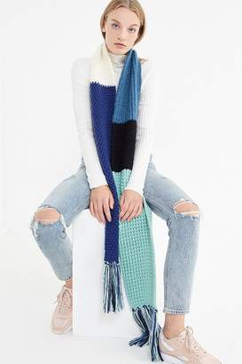 Urban Outfitters Colorblock Knit Scarf