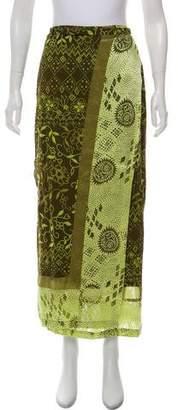 Kenzo Printed Midi Wrap Skirt