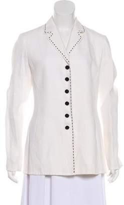 Lafayette 148 Linen Long Sleeve Blazer