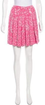 St. John Pleated Mini Skirt