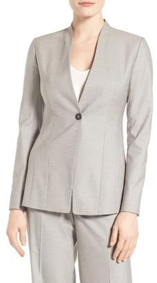 Women's Emerson Rose Sabrina One-Button Suit Jacket $179 thestylecure.com