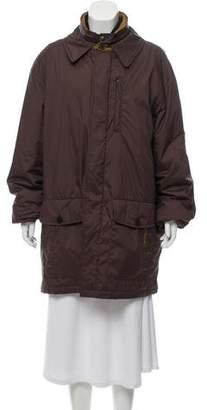 Burberry Layered Nova-Trimmed Coat