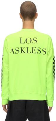 Askyurself Askless Logo Neon Cotton Sweatshirt