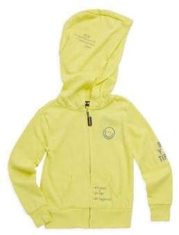 Peace Love World Little Girl's Patched Hoodie