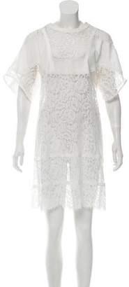 Sacai Lace Knee-Length Dress
