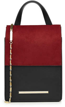 Roland Mouret Leather and Suede Shoulder Bag