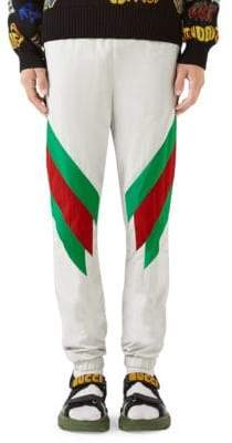 Gucci Oversize Jogging Pant with Web Intarsia