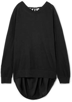 Ann Demeulemeester Draped Cotton And Silk Sweater - Black