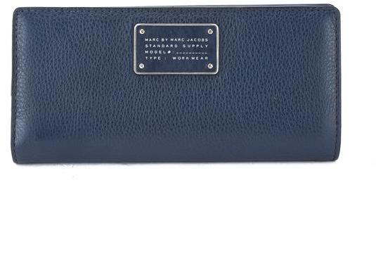 Marc By Marc Jacobs Marc Jacobs Navy Blue Leather 'Too Hot To Handle' Tomoko Continental Wallet (New with Tags)