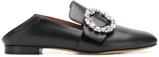 Bally crystal embellished slippers