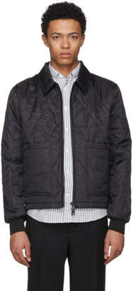 Ami Alexandre Mattiussi Black Nylon Quilted Jacket