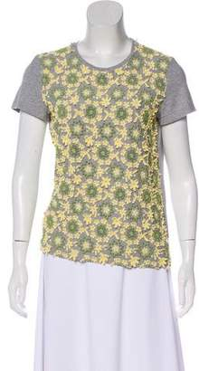 Prada Embroidered Knit Top