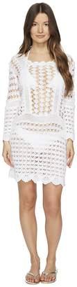 Letarte Crochet Long Sleeve Cover-Up Women's Swimwear