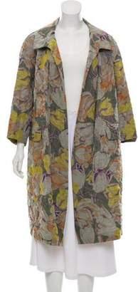 Dries Van Noten Silk-Blend Printed Coat