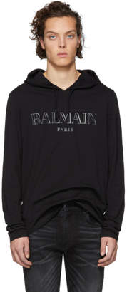 Balmain Black Logo Hoodie