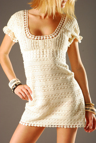 YAYA AFLALO Crochet Dress