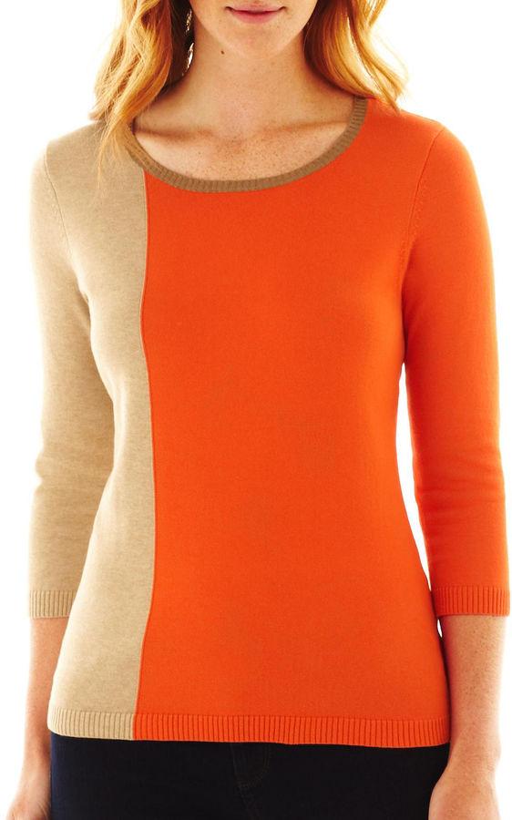 Liz Claiborne Colorblock Sweater