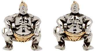Paul Smith Silver and Copper Sumo Wrestler Cufflinks