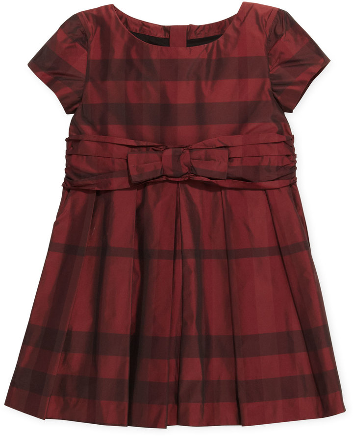 Burberry Check-Taffeta Party Dress, 4Y-10Y