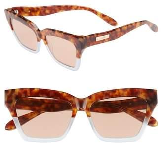 Sonix Half Half 54mm Cat Eye Sunglasses