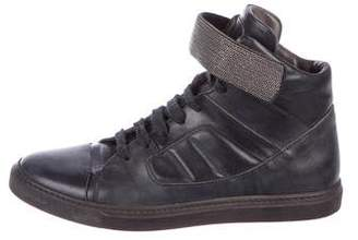 Brunello Cucinelli Embellished High-Top Sneakers