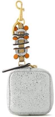 Anya Hindmarch Metallic Cracked-leather Wallet