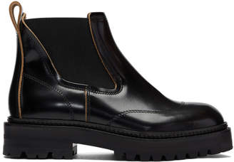Marni Black Treaded Chelsea Boots
