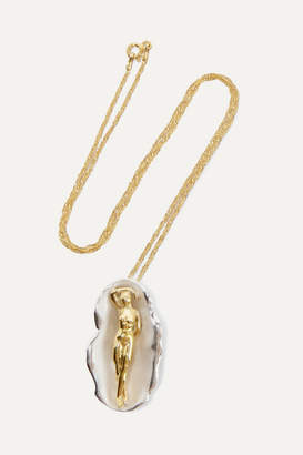 Paola Vilas - Venus Silver And Gold-plated Necklace