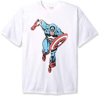 Marvel Men's Retro Captain America T-Shirt