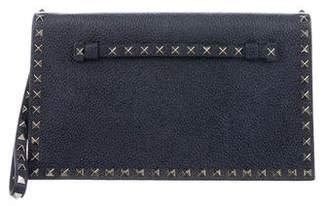 Valentino Rockstud Leather Wristlet