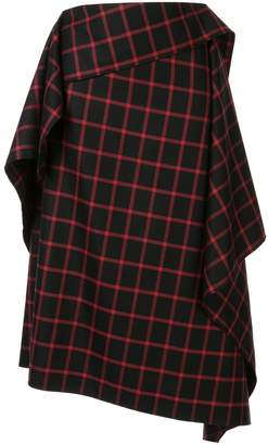 Puma Maison Yasuhiro asymmetric check skirt