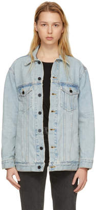 Alexander Wang Blue Oversized Daze Denim Jacket