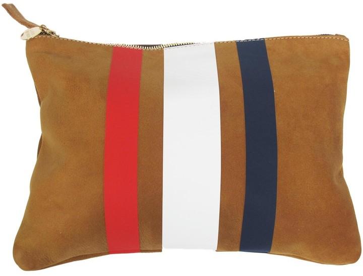 Clare Vivier Three Stripe Flat Clutch