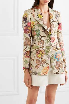 Etro Floral Brocade Blazer - Ecru